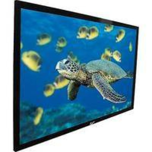 Elite R84WV1-BLACK EZ Frame Fixed Frame Projection Screen