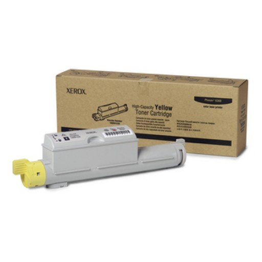 Xerox 106R01220, Toner Cartridge- HC Yellow, Phaser 6360- Original