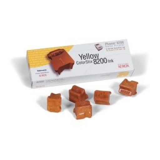 Xerox 016204700 Solid Ink - 5 x HC Yellow Genuine