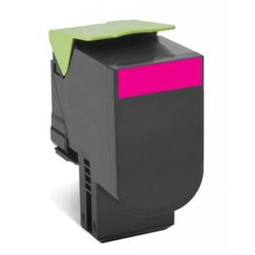 Lexmark 802HM HC Return Program Toner Cartridge - Magenta Genuine, 80C2HM0