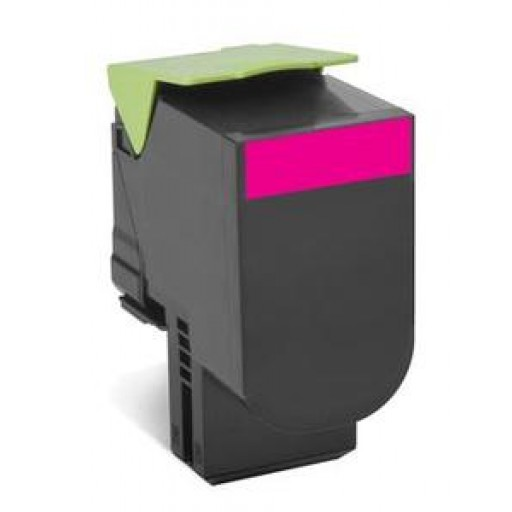 Lexmark 802XM Extra HC Return Program Toner Cartridge - Magenta Genuine, 80C2XM0