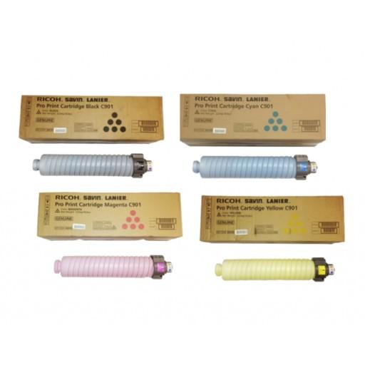 Ricoh 828124, 828125, 828126, 828127, Toner Cartridge Value Pack, Pro C901- Original