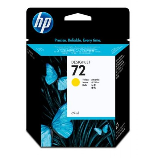 HP C9400A, No.72, Ink Cartridge Yellow, T1100, T1120, T1200- Original