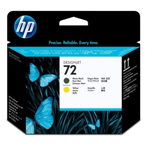 HP C9384A No.72 Matte Black & Yellow Printhead Genuine