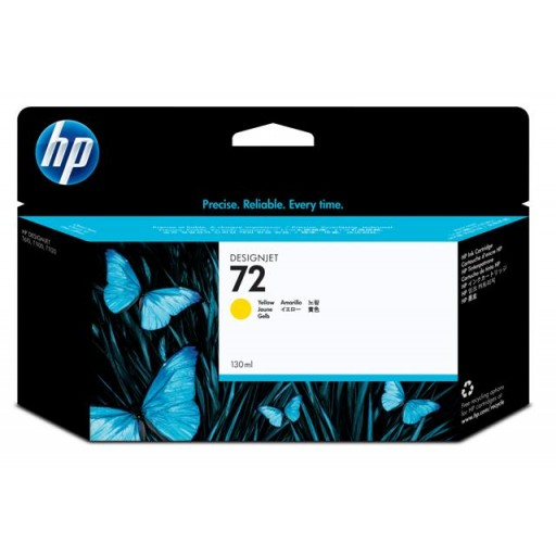 HP C9373A, No.72, Ink Cartridge HC Yellow, T790, T1100, T1120, T1200- Original