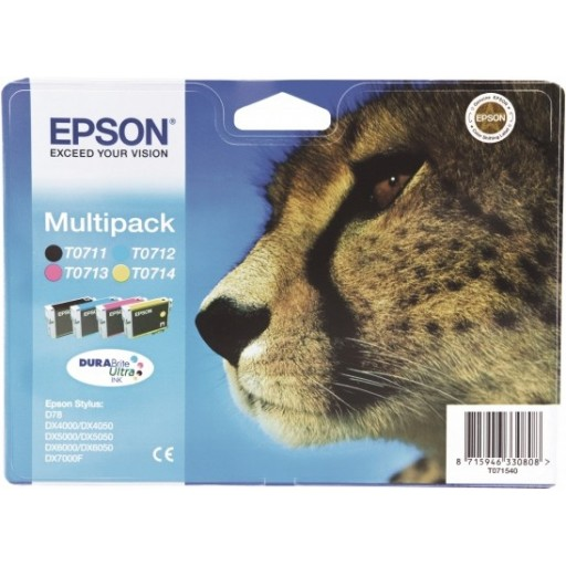 Epson T0715 Ink Cartridge - 4 Colour Multipack Genuine