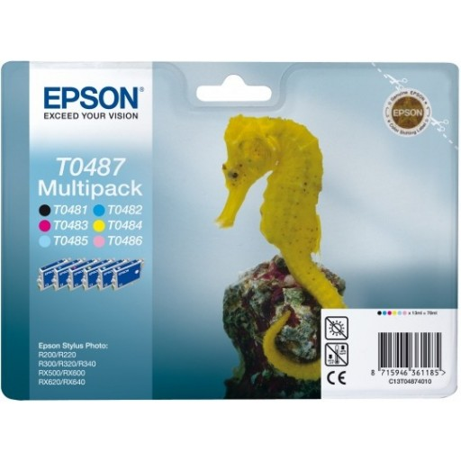 Epson T0487 Ink Cartridge - 6 Colour Multipack Genuine