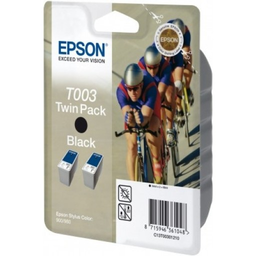 Epson T003 Ink Cartridge - Black Multipack Genuine