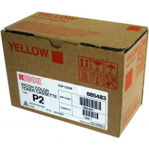Ricoh 885483  Toner Cartridge HC Yellow, Type P2, 2228C, 2232C, 2238C - Genuine