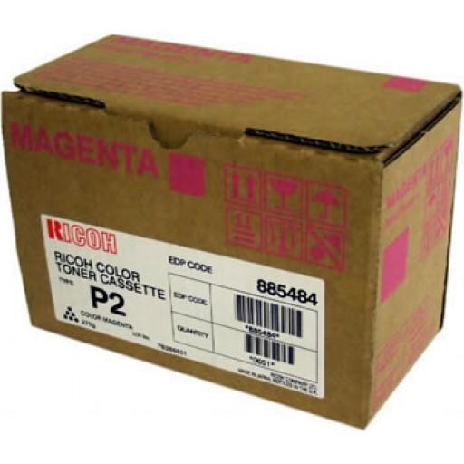 Ricoh 888237 Toner Cartridge HC Magenta, Type P2, 2228C, 2232C, 2238C - Genuine