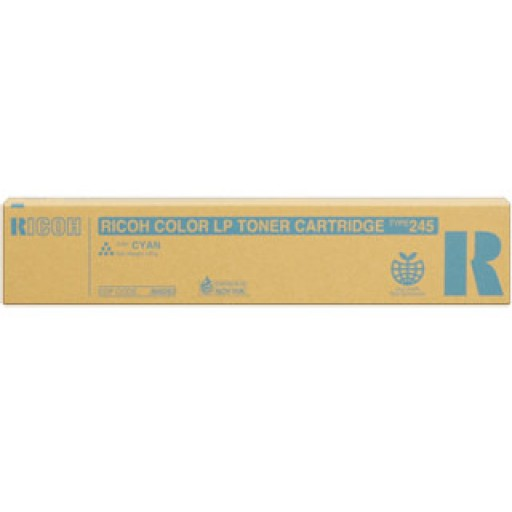 Ricoh 888283 Toner Cartridge Cyan, Type 245, CL4000, SPC410, SPC411, SPC420 - Genuine
