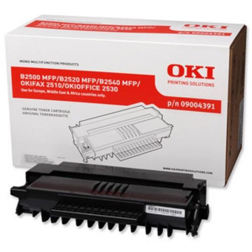 Oki 9004391, Toner Cartridge HC Black, B2500, B2520, B2540, 2510- Original