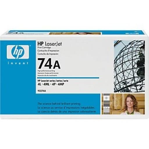 HP 4L, 4ML, 4MP, 4P Toner Cartridge - Black Genuine (92274A)