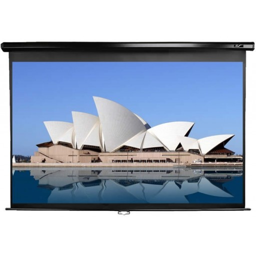 Elite M92UWH-BLACK Manual Pull Down Projection SCreen