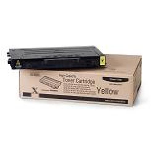 Xerox 106R00682, Toner Cartridge- HC Yellow, Phaser 6100- Original