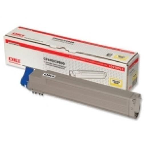 Oki 42918913, Toner Cartridge Yellow, C9600, C9650, C9800, C9850- Original