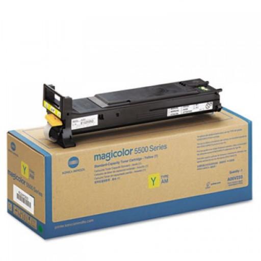 Konica Minolta A06V253, 5500/5550/5570/5650/5670 High Capacity Toner Cartridge - Yellow