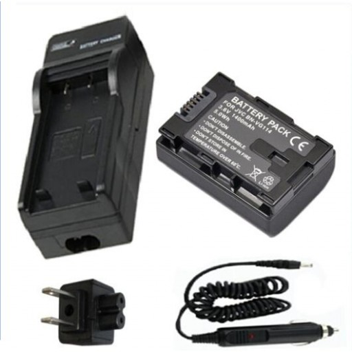 Battery + Charger for JVC Everio GZ-E105, GZ-EX310, GZ-E505