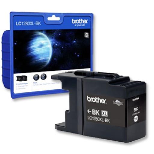 Brother LC1280XLBKBP2, Ink Cartridge Twin Pack, MFC J6510, J6710, J6910 - HC Black Genuine
