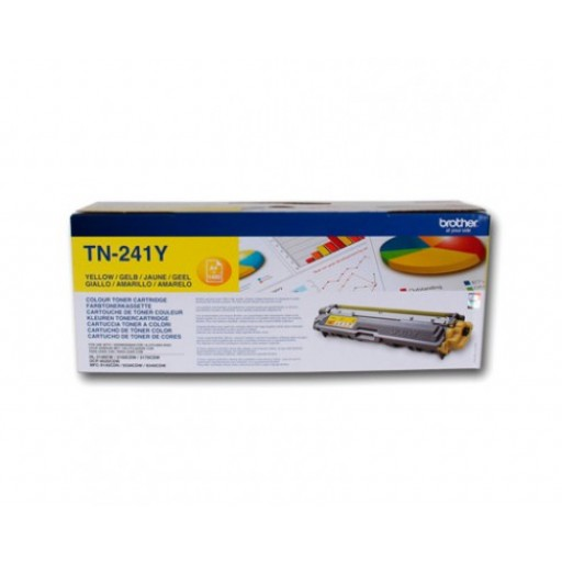 Brother TN241Y, Toner Cartridge- Yellow, HL3140, MFC9140, MFC-9330CDW- Genuine
