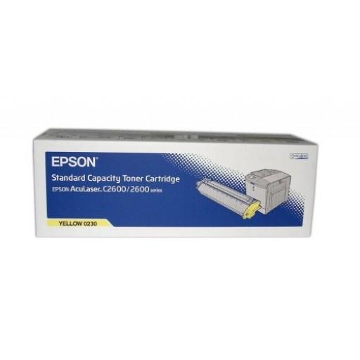 Epson C13S050230, Toner Cartridge Yellow, AcuLaser 2600- Original