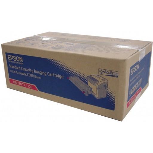 Epson C13S051129, Toner Cartridge Magenta, AcuLaser C3800- Original