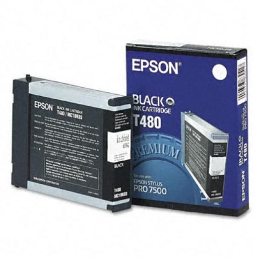 Epson T480 Ink Cartridge - Black Genuine