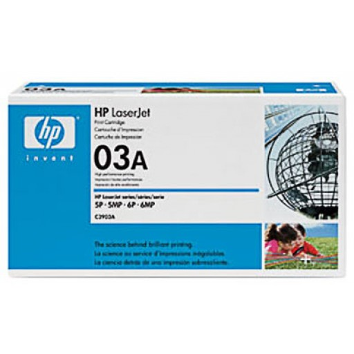 HP 03A 5MP, 5P, 6MP, 6P, 6PSE, 6SXI Toner Cartridge - Black Genuine (C3903A)
