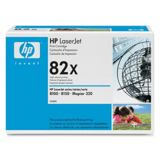 HP C4182X, Toner Cartridge HC Black, 8100, 8150, 320- Original