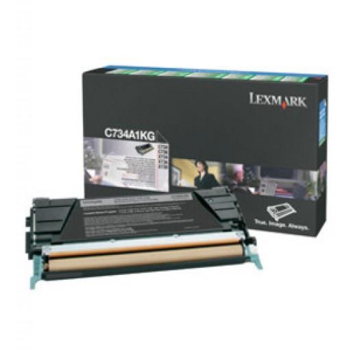 Lexmark C734A1KG, Toner Cartridge- Black, C734, C736, X736, X738- Genuine
