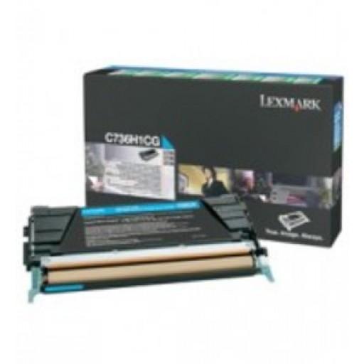 Lexmark C736H1CG, Toner Cartridge- HC Cyan, C736, X736, C738, X738- Genuine