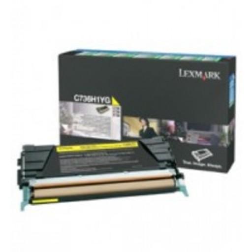 Lexmark C736H1YG, Toner Cartridge- HC Yellow, C736, X736, C738, X738- Genuine