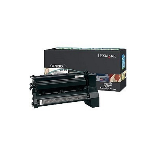 Lexmark C7720KX, Return Program Toner Cartridge Extra HC Black, C772, X772- Original