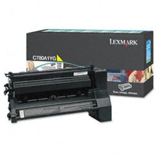 Lexmark C780A1CG, Toner Cartridge- Cyan, C780, C782- Original