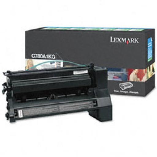 Lexmark C780A1KG, Toner Cartridge- Black, C780, C782- Original