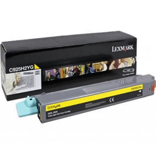 Lexmark C925H2YG, C925 Toner Cartridge - Yellow