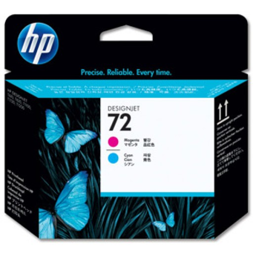 HP C9383A No.72 Magenta and Cyan Printhead Genuine