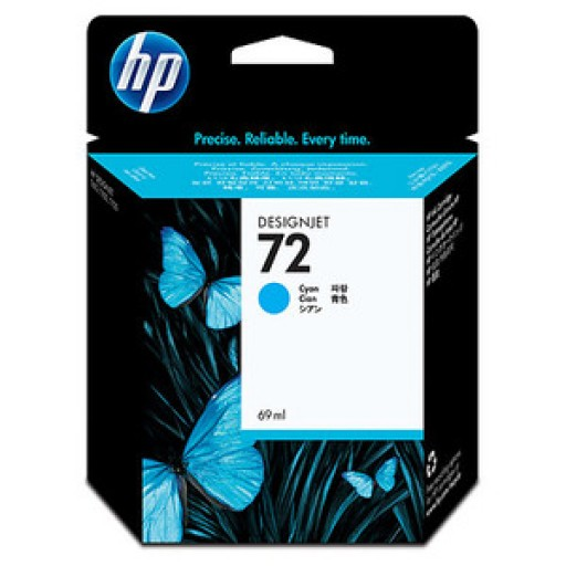 HP C9398A, No.72, Ink Cartridge Cyan, T1100, T1120, T1200- Original