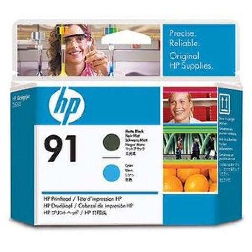HP C9460A No.91 Matte Black & Cyan Printhead Genuine