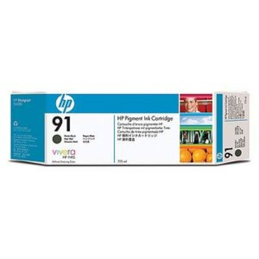 HP C9464A, No.91 Ink Cartridge Matte Black, DesignJet Z6100- Original