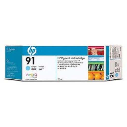 HP C9470A No.91 Ink Cartridge - Light Cyan Genuine