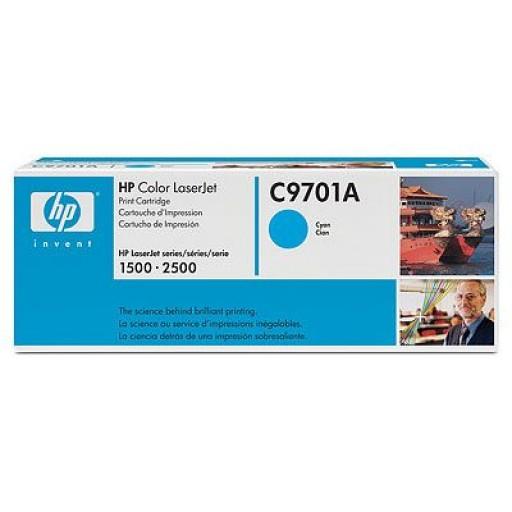 HP C9701A, Toner Cartridge Cyan, LaserJet 1500, 1550, 2500- Original