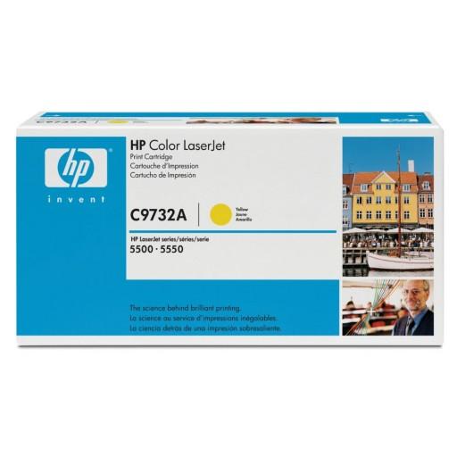HP C9732A Toner Cartridge Yellow,  645A 5500, 5550- Genuine