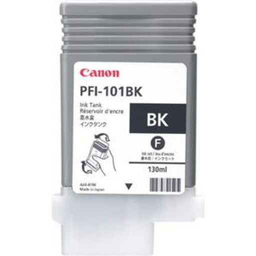 Canon 0883B001AA, PFI-101BK Ink Cartridge, iPF5000, iPF5100- Black Genuine