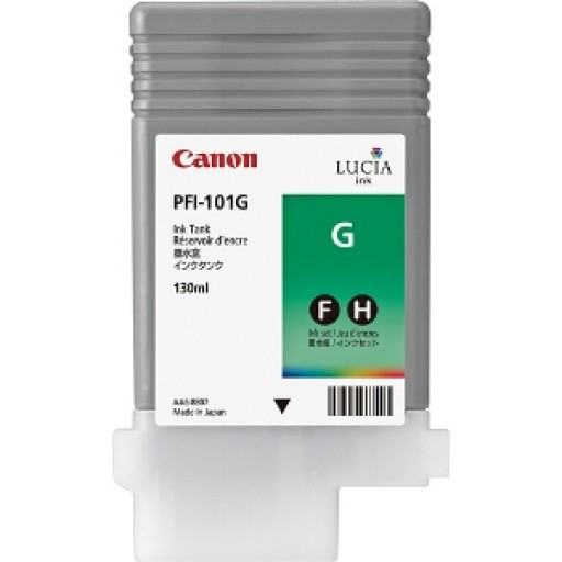 Canon 0890B001AA, PFI-101G Ink Cartridge, iPF6100, iPF6200 - Green Genuine