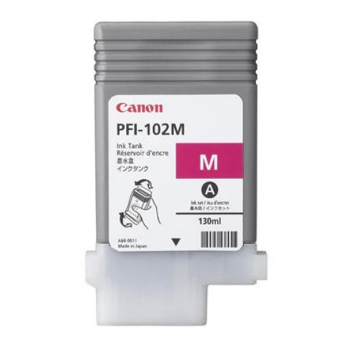 Canon 0897B001, Ink Cartridge Magenta, iPF500, iPF510, iPF600, iPF605, PFI-102M- Original