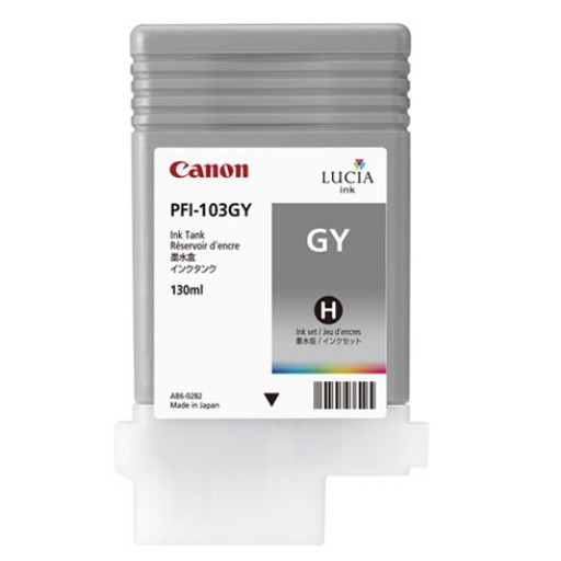 Canon 2213B001AA, PFI-103GY Ink Cartridge, iPF6100, iPF6200 - Gray Genuine