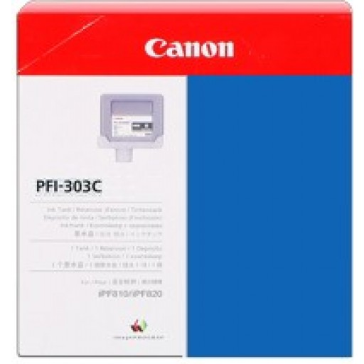 Canon iPF810, iPF815, iPF820, iPF825 PFI303C Ink Cartridge - Cyan Genuine (2959B001AA)
