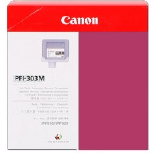 Canon iPF810, iPF815, iPF820, iPF825 PFI303M Ink Cartridge - Magenta Genuine (2960B001AA)