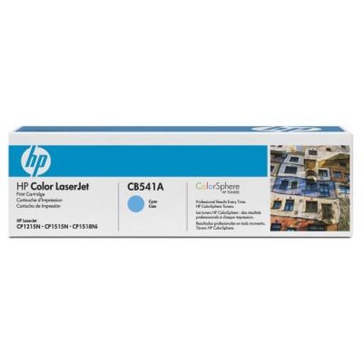 HP CB541A, Toner Cartridge Cyan, CM1312, CP1215, 1217, 1514- Original